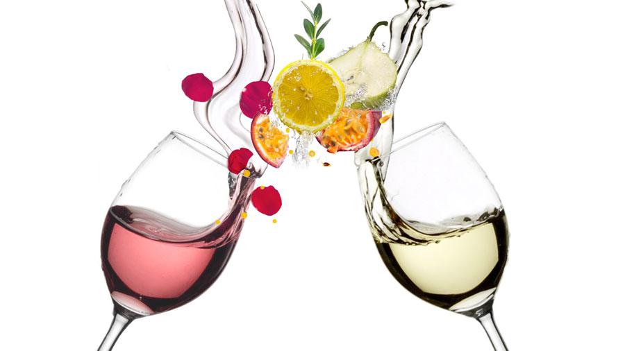 Frescor del Vino Blanco y Vino Rosado